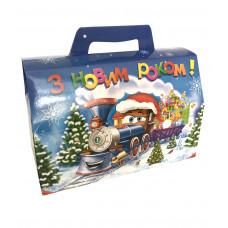 Коробка -  Поезд с новогодними подарками (1000 г)