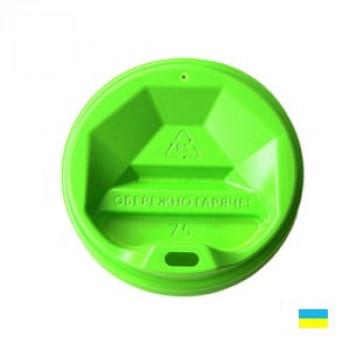 Крышка на стак. 250мл зелен. КР-75 фигур (50/3000)