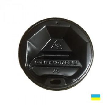 Крышка на стак. 250мл черная КР-75 фигру. (50/3000)
