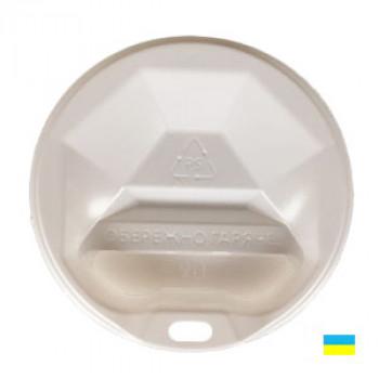 Крышка на стак. 340мл гофро бел. КР-90 фигур (50/2000)
