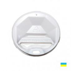 Кришка на стак. 175мл біл. КР-71 фігур. (50/3000)
