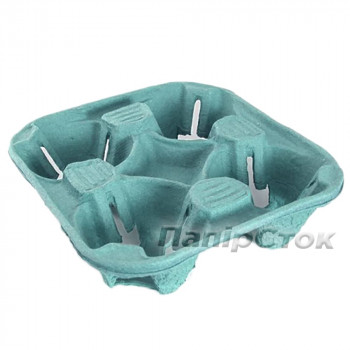 Подстаканник для четырех стаканов синий