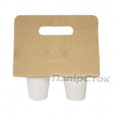 Подстаканник для 2-х стаканчиков (гофро) - image