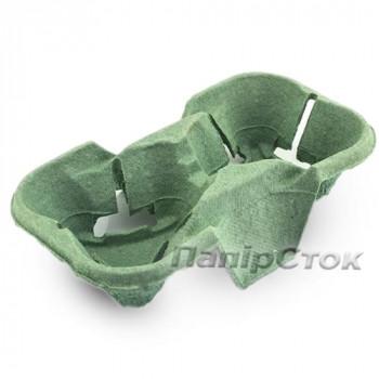 Держатель для 2-х стак. зелёный