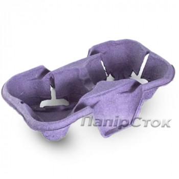 Подстаканник для 2-х стак. фиолетовой