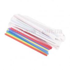 Трубочка 22см, цвет., прямая, в индивидуальной упаковке, 200шт., пачка