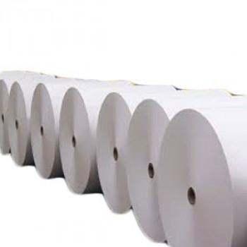 Крафт белый ламинированный в промышленном рулоне