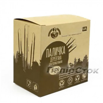 Размешиватель для напитков деревянный 140x6x1.6 мм (1000 шт.) в коробке