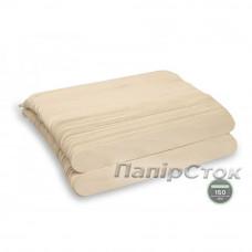 Шпатель дерев'яний одноразовий 150х18х1, 6 мм (100 шт.)