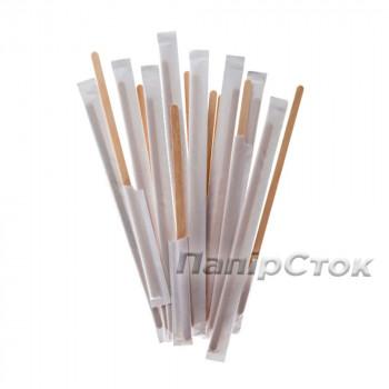 Размешиватель для напитков деревянный 140x6x1.8 мм (250 шт.) в инд. упак.