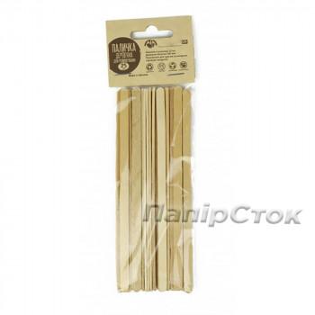 Размешиватель для напитков деревянный 140x6x1.6 мм  (25 шт)