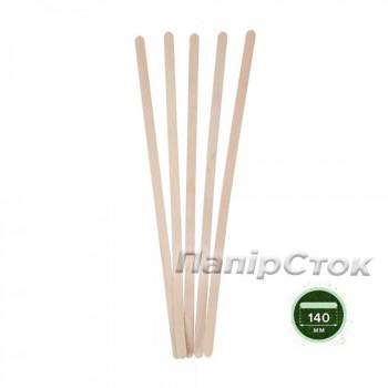 Размешиватель для напитков деревянный 140x6x1.3 мм  (800 шт)