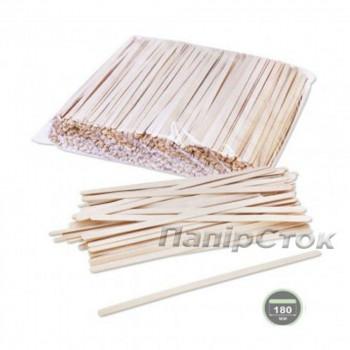 Размешиватель для напитков деревянный 180x6x1.3 мм  (800 шт)