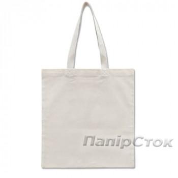 Эко-сумка 100% Хлопок-канвас 38х40 см белая