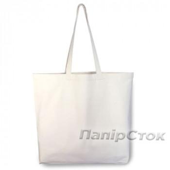 Эко-сумка 100% Хлопок-канвас 50х14х38 см белая