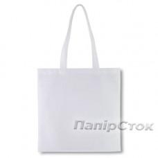 Эко-сумка из спанбонда белая 38х40 см - image