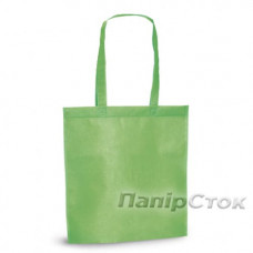 Эко-сумка из спанбонда зеленая 38х40 см