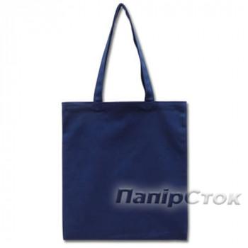 Эко-сумка 100% хлопок-саржа 35х41 см синяя