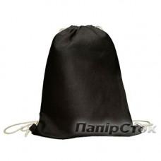 Эко-рюкзак 100% Хлопок 35х45 см черная - image