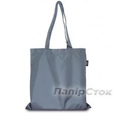 Эко-сумка плащевка серая 38х40 см