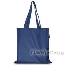 Эко-сумка плащевка синяя 38х40 см