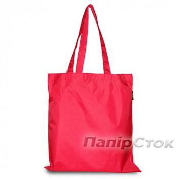 Эко-сумка плащевка красная 38х40 см