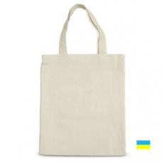 Эко-сумка 100% хлопковая белая 35х41 см
