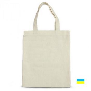 Эко-сумка 100% хлопок-двунитка 35х41 см белая