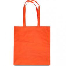 Эко-сумка из спанбонда оранжевая 38х40 см