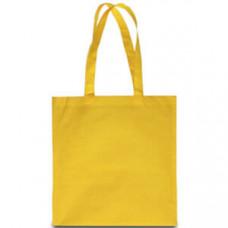 Эко-сумка из спанбонда желтая 38х40 см - image