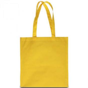 Эко-сумка из спанбонда желтая 38х40 см