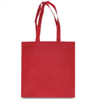 Эко-сумка из спанбонда красная 38х40 см