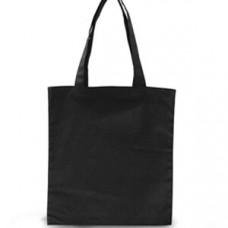Эко-сумка 100% саржа 35х42 см черная - image