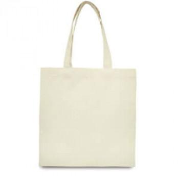 Эко-сумка 100% хлопок-саржа 38х40 см белая