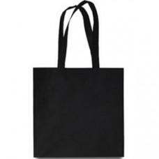 Эко-сумка из спанбонда черная 38х40 см