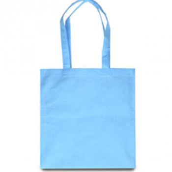 Эко-сумка из спанбонда голубая 38х40 см
