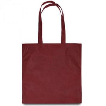 Эко-сумка из спанбонда бордовая 38х40 см