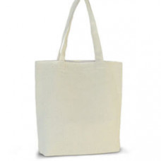 Эко-сумка 100% хлопковая белая 39х8х41 см