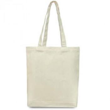 Эко-сумка 100% хлопок-саржа 36х7х38 см белая