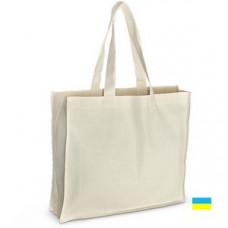 Эко-сумка 100% хлопковая белая 42х10х35 см