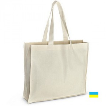 Эко-сумка 100% хлопок-двунитка 42х10х35 см белая