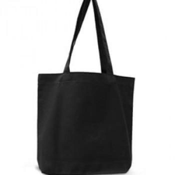Эко-сумка 100% хлопок-двунитка 35х7х35 см черная