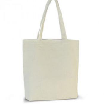 Эко-сумка 100% хлопок-двунитка 35х7х35 см белая