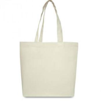 Эко-сумка 100 % хлопок-саржа 42х12х35 см белая
