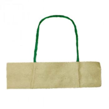 Ручки бумажные зеленые (1 пара = 2 ручки)