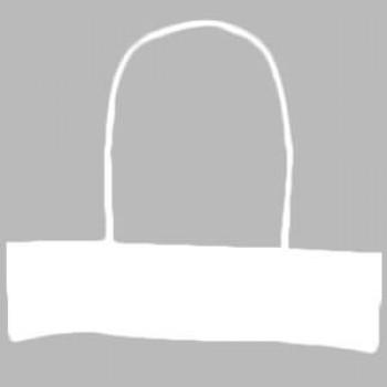 Ручки бумажные белые 2-х слойные (1 пара = 2 ручки)