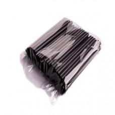 Трубочка 21см, черная, прямая, 500 шт., пачка