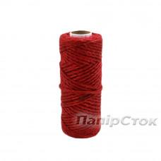 Шнур поліпропіленовий кручений 80м червоний