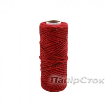 Шнур полипропиленовый крученый 80м красный
