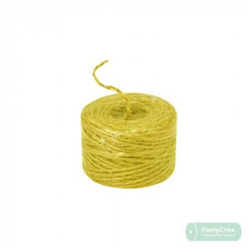 Шпагат джутовый жёлтый/лимонный 45м